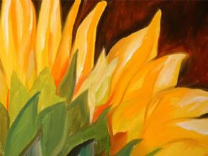 Detail Image for art TUSCANY SUNFLOWER BACK