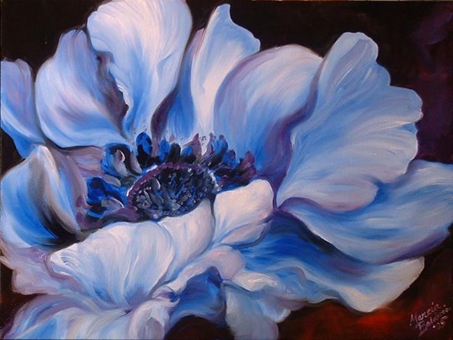 Art: BLUE BLEU by Artist Marcia Baldwin