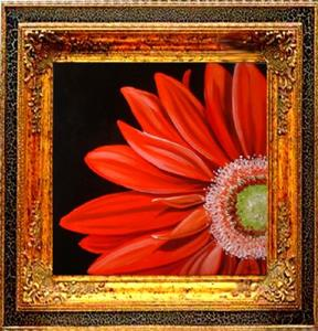 Detail Image for art RED GERBERA DAISY