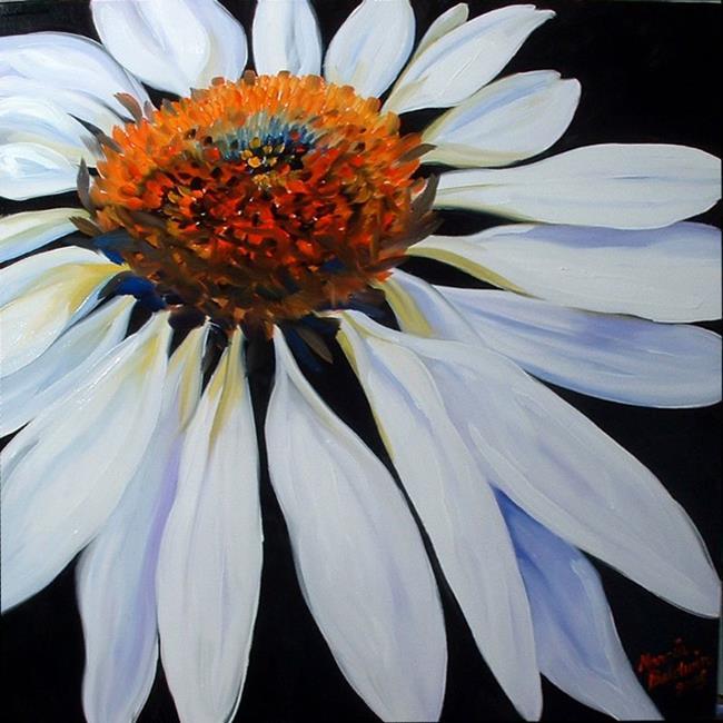 Art: White Coneflower by Artist Marcia Baldwin