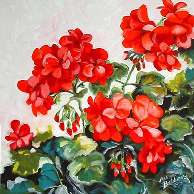 Art: Red Geranium No.1 by Artist Marcia Baldwin