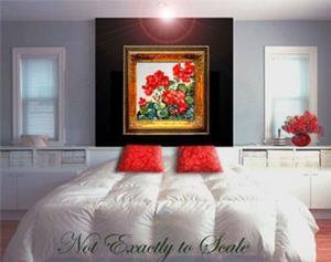 Detail Image for art Red Geranium No.1