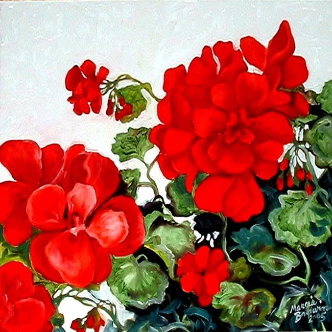 Art: Red Geranium No.2 by Artist Marcia Baldwin