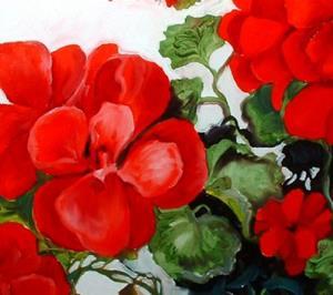 Detail Image for art Red Geranium No.2