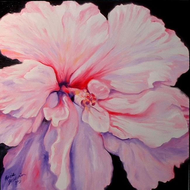 Art: Pink Hibiscus by Artist Marcia Baldwin