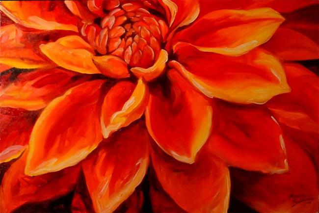 Art: The Red Dahlia by Artist Marcia Baldwin