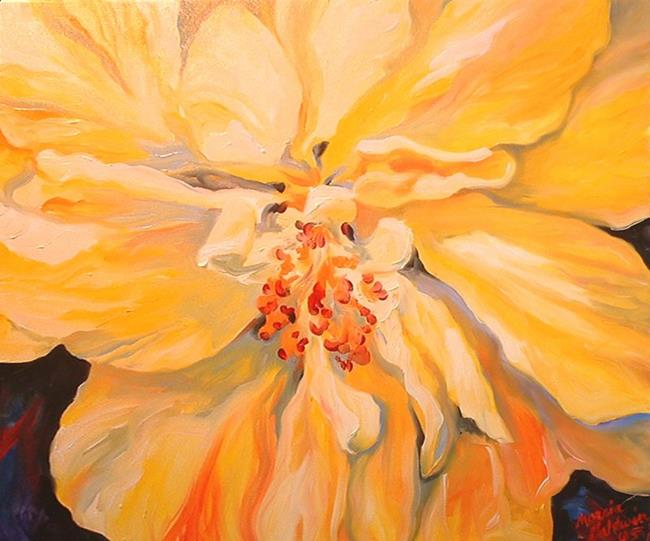 Art: Yellow Hibiscus by Artist Marcia Baldwin