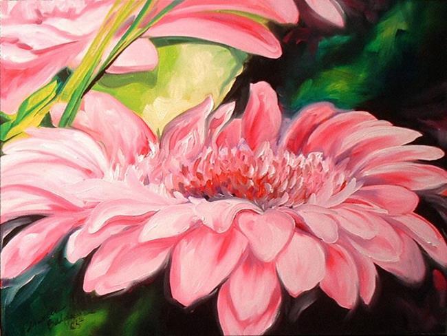 Art: PINK GERBERA DAISIES by Artist Marcia Baldwin