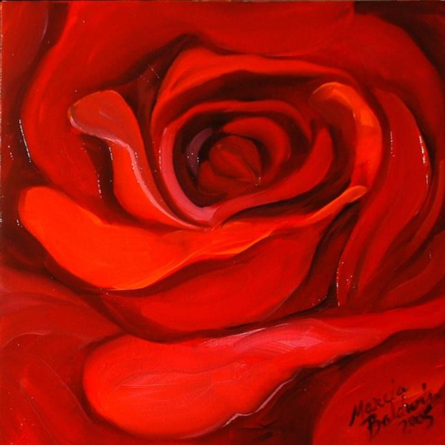 Art: Red Rose Red by Artist Marcia Baldwin