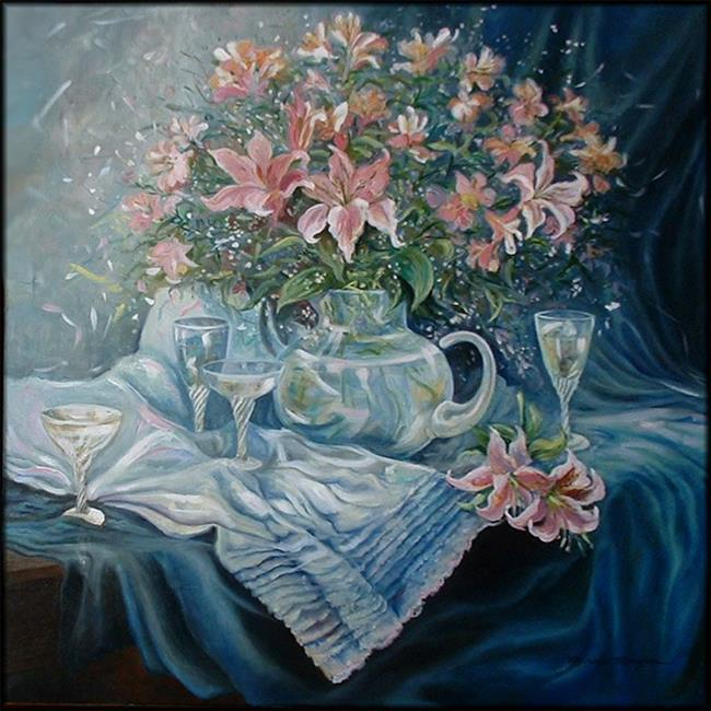 Art: Lillies and Lace by Artist Marcia Baldwin