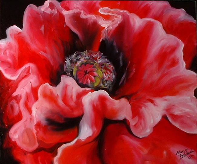Art: ORIENTAL POPPY by Artist Marcia Baldwin