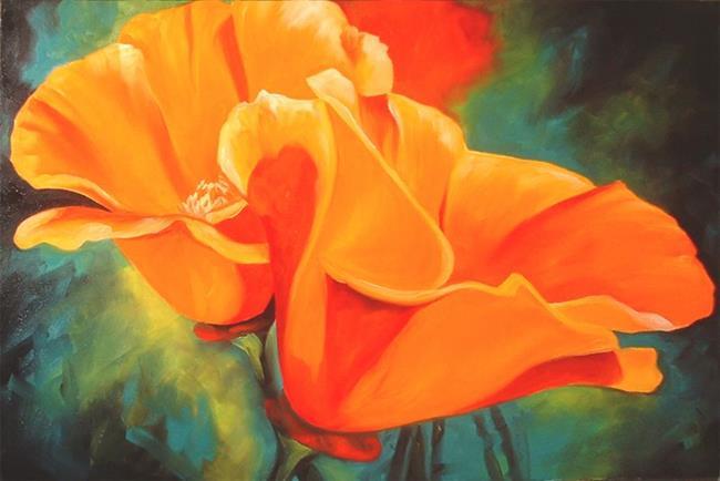 Art: California Poppies A'Glow by Artist Marcia Baldwin