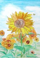 Art: Sunflowers - sold by Artist Shari Lynn Schmidt