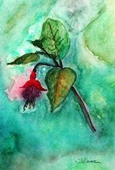 Art: Fushia in the Rain - sold by Artist Shari Lynn Schmidt