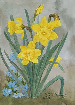 Art: Daffodil Time by Artist Carol Thompson