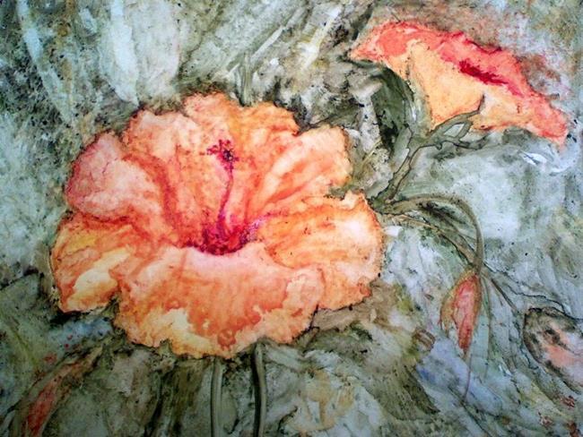 Art: Natalie's Hibiscus  by Artist Shoshana Avramovitz
