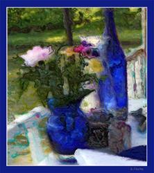 Art: Cobalt Reverie  by Artist Deanne Flouton