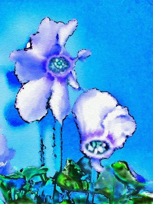 Art: Cyclamen Blues by Artist Deanne Flouton