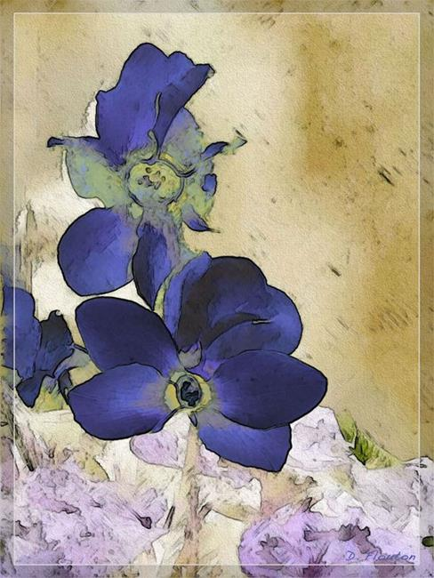 Art: Blue Cyclamen by Artist Deanne Flouton