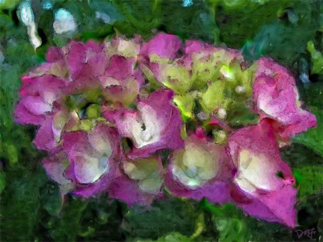 Art: Hydrangea by Artist Deanne Flouton