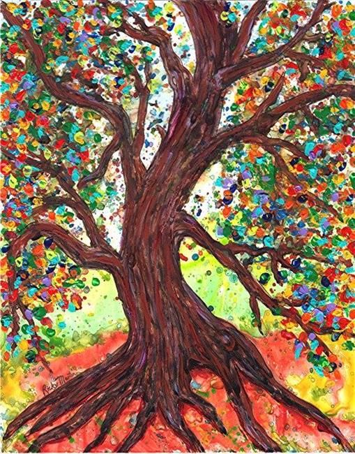 Art: Autumn Tree - available in my etsy store by Artist Ulrike 'Ricky' Martin