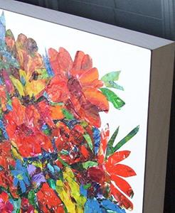 Detail Image for art Large Floral Collage - available in my etsy store