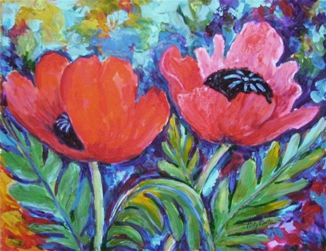 Art: Vibrant Poppies by Artist Ulrike 'Ricky' Martin