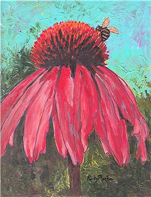 Art: Echinacea by Artist Ulrike 'Ricky' Martin