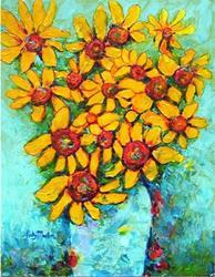 Art: Bouquet of Sunflowers by Artist Ulrike 'Ricky' Martin