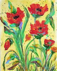 Art: Poppy Patch by Artist Ulrike 'Ricky' Martin
