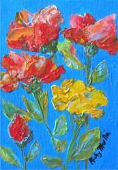Art: Impasto Roses by Artist Ulrike 'Ricky' Martin