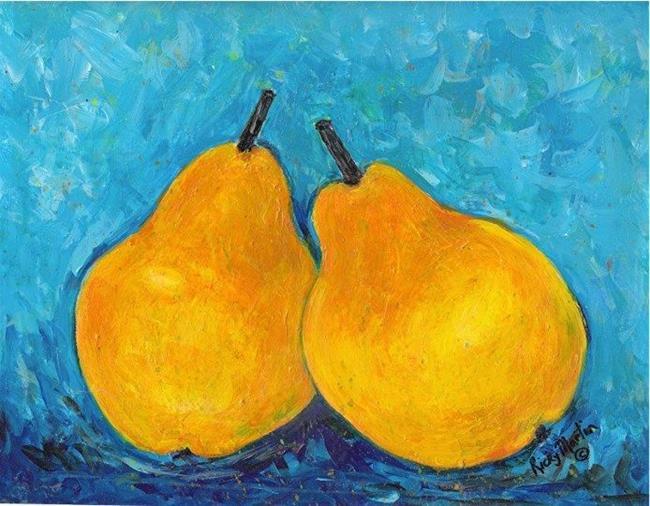 Art: Pears - sold by Artist Ulrike 'Ricky' Martin