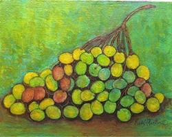 Art: Grapes Abstract by Artist Ulrike 'Ricky' Martin