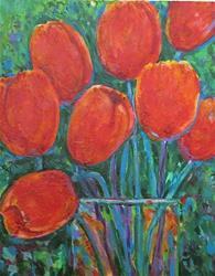 Art: Vibrant Tulip Bouquet by Artist Ulrike 'Ricky' Martin