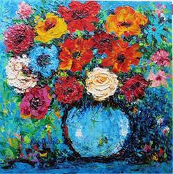 Art: Impasto Bouquet by Artist Ulrike 'Ricky' Martin