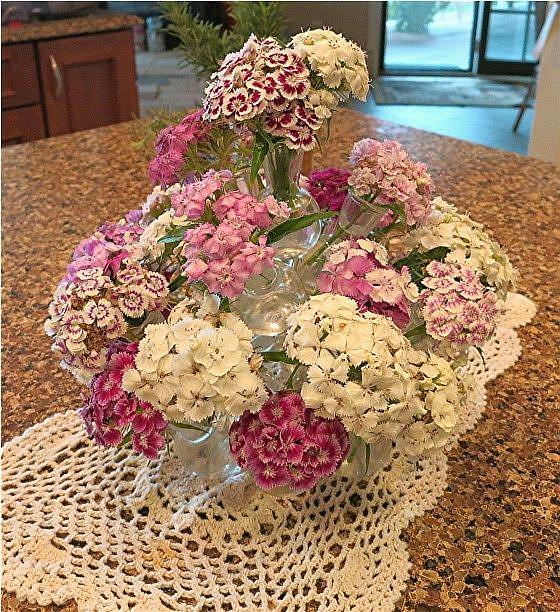 Art: Sweet William Bouquet by Artist Ulrike 'Ricky' Martin
