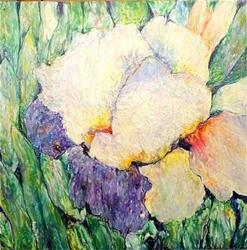 Art: Encaustic Iris ( sold ) by Artist Ulrike 'Ricky' Martin