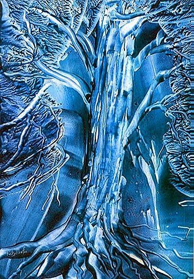 Art: Moonlit Old Tree by Artist Ulrike 'Ricky' Martin