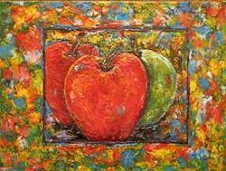 Art: Encaustic Apples Still Life by Artist Ulrike 'Ricky' Martin
