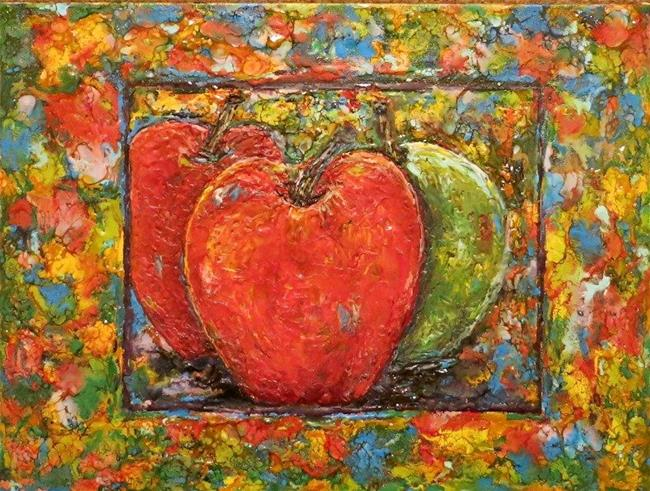 Art: Encaustic Apples Still Life by Artist Ulrike 'Ricky' Martin