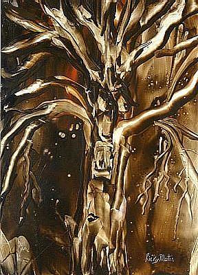 Art: Spooky Tree by Artist Ulrike 'Ricky' Martin