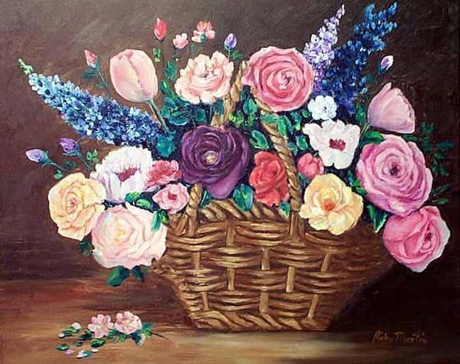 Art: Flower Basket by Artist Ulrike 'Ricky' Martin