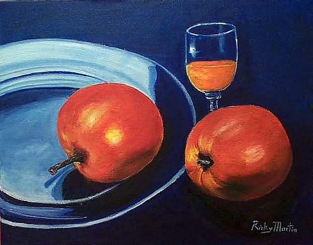 Art: Apples & Juice by Artist Ulrike 'Ricky' Martin