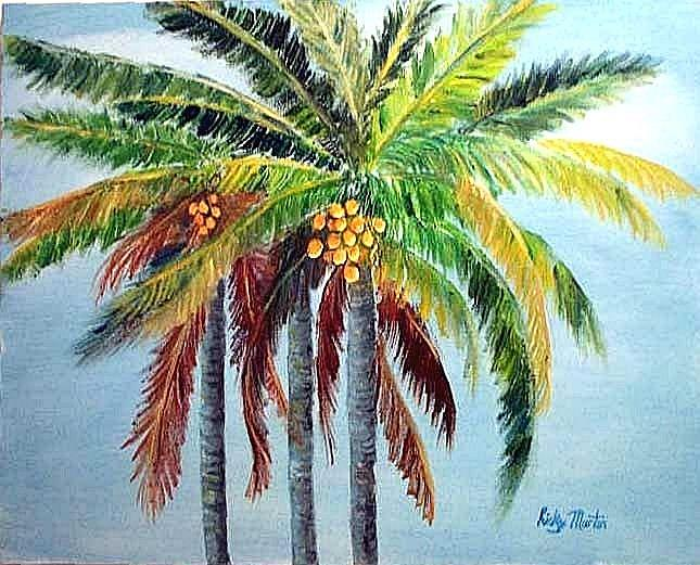Art: Palm Trees (sold) by Artist Ulrike 'Ricky' Martin