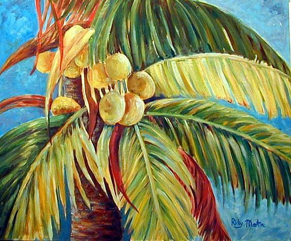 Art: Coconut Palm Tree by Artist Ulrike 'Ricky' Martin