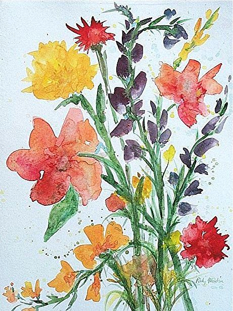 Art: FLOWER BUNCH - sold by Artist Ulrike 'Ricky' Martin