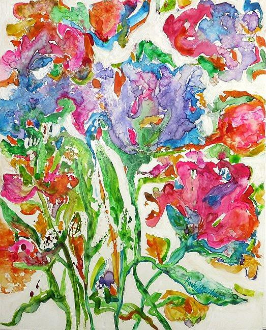 Art: Abstract Flowers # 6 by Artist Ulrike 'Ricky' Martin