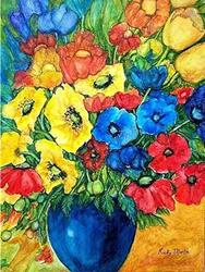 Art: Poppy Bouquet - nfs by Artist Ulrike 'Ricky' Martin