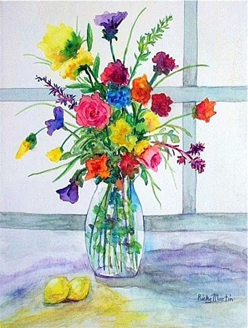 Art: Bouquet with Lemons  (sold ) by Artist Ulrike 'Ricky' Martin