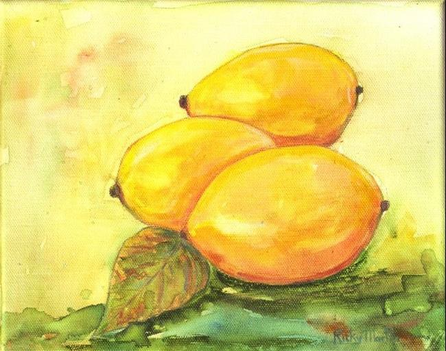 Art: Lemon Trio ( sold ) by Artist Ulrike 'Ricky' Martin